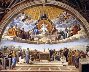 La disputa del sacramento - Raffaello (1511)