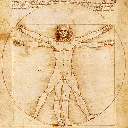 Uomo vitruviano - Leonardo Da Vinci (1490)