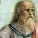 Platone, particolare della Scuola di Atene di Raffaello, che lo ha ritratto con il volto di Leonardo da Vinci