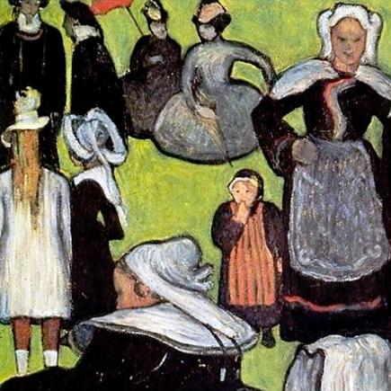 Donne bretoni su prato verde - Emile Bernard (1888)