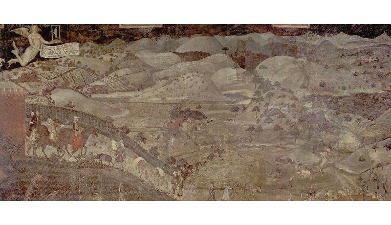 Ambrogio Lorenzetti, Effetti del Buon Governo in campagna,1338-1339