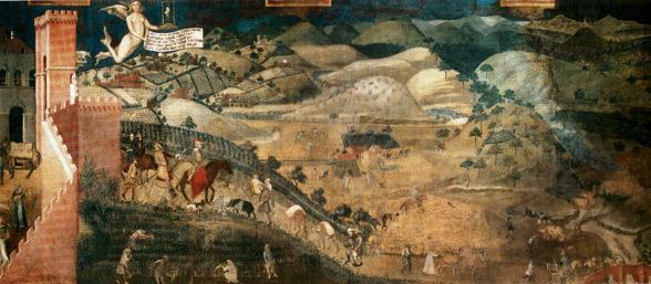 Ambrogio Lorenzetti, Effetti del Buon Governo in campagna, 1338-1339