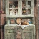 Credenza, 2008, tempera su carta intelata, cm 100 x 70