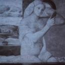 11 - Giovanni Bellini, Giovane donna allo specchio 1515 (riflettografia).