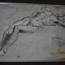 15 - Tintoretto, Figura maschile disegno.