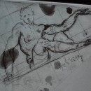 18 - Tintoretto, Possibile disegno preparatorio per l'Allegoria della Felicità.