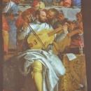 22 - Paolo Veronese, Nozze di Cana 1563, particolare del suonatore.