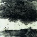 Sotto la chioma, 1992, china su carta, cm 60 x 50
