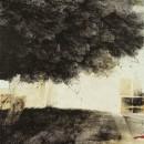 Sotto la chioma, 1993, china su carta, cm 190 x150