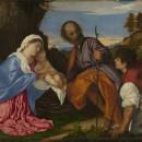 26 - Tiziano, Sacra Famiglia con il pastore 1510.