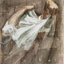 Uomo (V), 2010, tempera su carta su tela, cm 60 x 50