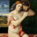 10 - Giovanni Bellini, Giovane donna allo specchio 1515.