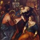 24 - Tintoretto, Cristo in casa di Marta e Maria 1567.