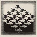 M.C. Escher, Cielo e acqua I