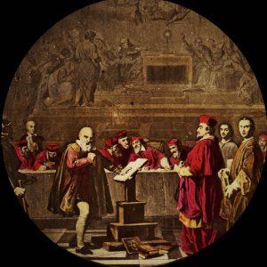 Galilée devant le saint Office au Vatican , 1847, huile sur toile, 196,5 x 308 cm, RF567. Parigi, museo del Louvre